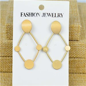 1p Earrings Nail 50mm metal color GOLD New Graphika 77391