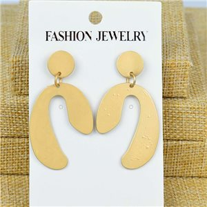 1p Earrings Nail 50mm metal color GOLD New Graphika 77395