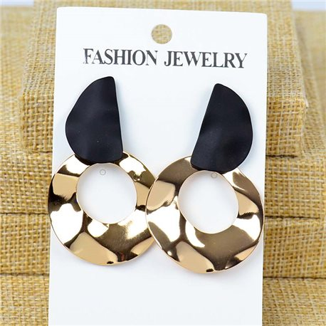 1p Earrings Nail 50mm metal color GOLD New Graphika 77363