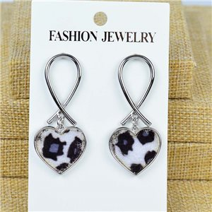 1p Earrings Nail 50mm metal color SILVER New Graphika 77426