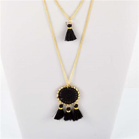 Adornment Pompom Collection 2019 Necklace Multirang chain necklace gold L48cm 76557