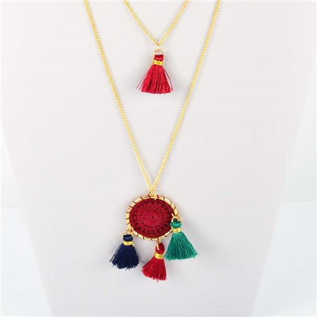 Adornment Pompom Collection 2019 Necklace Multirang chain necklace gold L48cm 76560