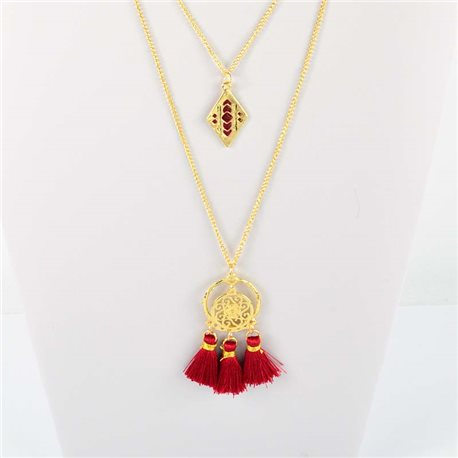 Adornment Pompom Collection 2019 Necklace Multirang chain necklace gold L48cm 76566