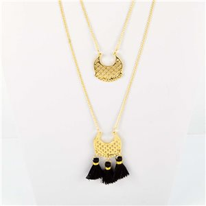 Adornment Pompom Collection 2019 Necklace Multirang chain necklace gold L48cm 76581