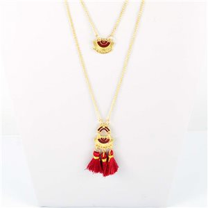 Adornment Pompom Collection 2019 Necklace Multirang chain necklace gold L48cm 76586