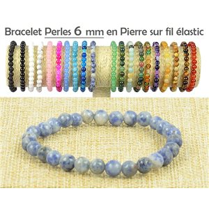 6mm Agate Lilac Beads Bracelet on elastic thread 77491