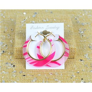 1p Earring Earrings Chamarre Hoop Earrings 45mm Clasp New Collection 77699