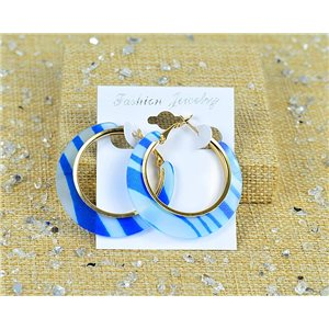 1p Earrings Hoop Earrings 45mm Clamshell New Collection 77701