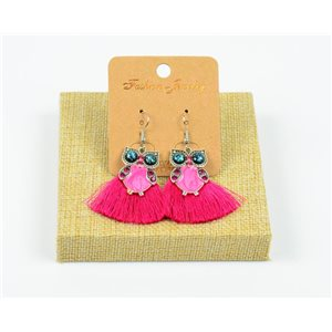 1p Earrings Crochet Tassel and Pearls New Ethnic Collection 77950