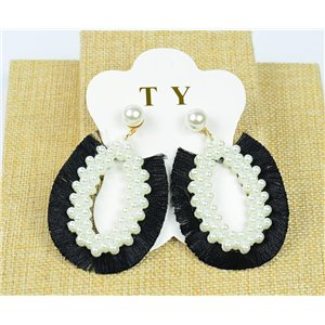 1p Earrings Tassel Nail on Beads New Collection Chic 77900