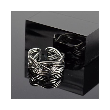 Adjustable ring t47 to t57 in aged silver metal Limited Edition Collection 78381