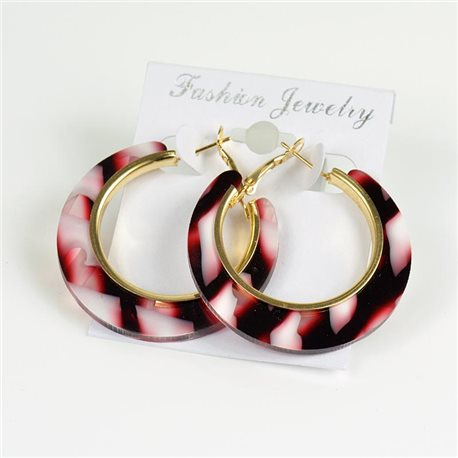 1p Earrings Chamarrés Creoles 45mm flap closure New Collection 78185