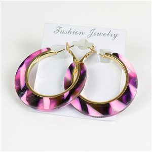 1p Earrings Chamarrés Creoles 45mm flap closure New Collection 78186