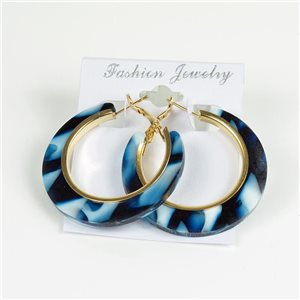 1p Earrings Chamarrés Creoles 45mm flap closure New Collection 78187