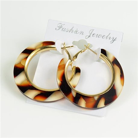 1p Earrings Chamarrés Creoles 45mm flap closure New Collection 78190