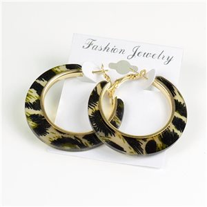 1p Panther Hoop Earrings 45mm flap closure New Collection 78192
