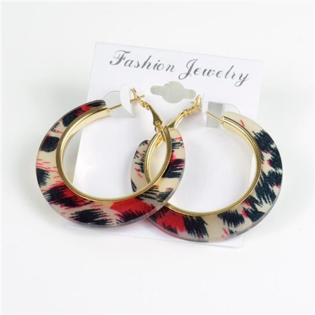 1p Panther Hoop Earrings 45mm flap closure New Collection 78193