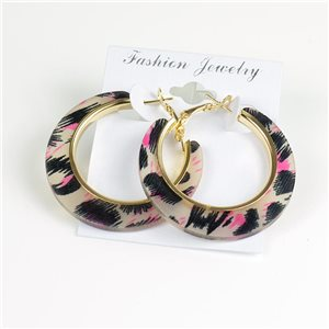 1p Panther Hoop Earrings 45mm flap closure New Collection 78194