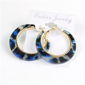 1p Panther Hoop Earrings 45mm flap closure New Collection 78195