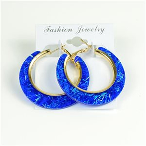 1p Hoop Earrings Glitter 45mm flap closure New Collection 78207