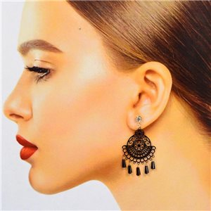 1p Filigree Stud Earrings Zircon and Tassels New Collection 78373