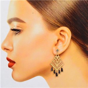 1p Filigree Stud Earrings Zircon and Tassels New Collection 78378