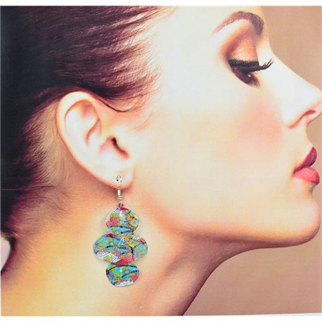 1p Filigree Earrings with silver hook New Ethnic Collection 78346