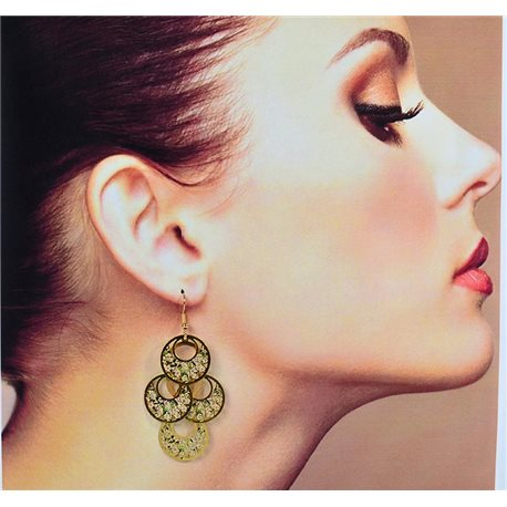 1p Filigree Earrings with golden hook New Ethnic Collection 78363