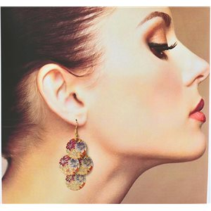1p Filigree Earrings with golden hook New Ethnic Collection 78365