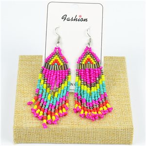 1p Drop Earrings with Hook 10cm Seed beads collection 77786