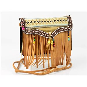 Women's leather-look pouch New Collection Ethnic Fabrics 18 * 14cm 78499