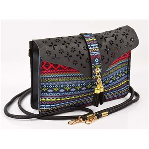 Women's leather-look pouch New Collection Ethnic Fabrics 18 * 14cm 78483