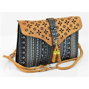Women's leather-look pouch New Collection Ethnic Fabrics 18 * 14cm 78486
