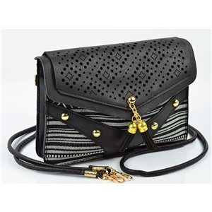Women's leather-look pouch New Collection Ethnic Fabrics 18 * 14cm 78489
