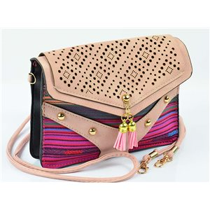 Women's leather-look pouch New Collection Ethnic Fabrics 18 * 14cm 78491