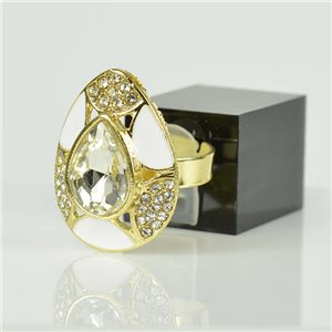 Bague Strass réglable Doré Full Strass New Collection 78516