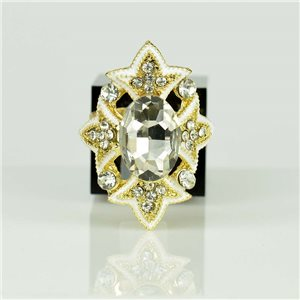 Adjustable Strass Ring Gold Full Strass New Collection 78524