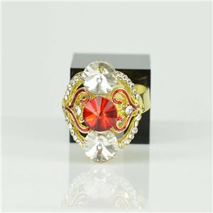 Bague Strass réglable Doré Full Strass New Collection 78529