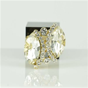 Adjustable Strass Ring Gold Full Strass New Collection 78532
