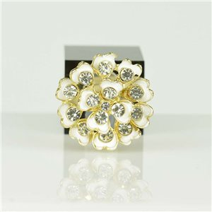 Bague Strass réglable Doré Full Strass New Collection 78536