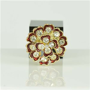 Adjustable Strass Ring Gold Full Strass New Collection 78537
