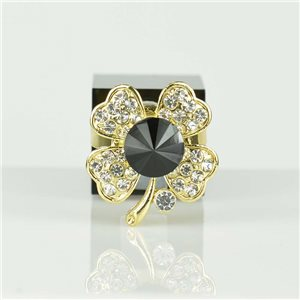 Bague Strass réglable Doré Full Strass New Collection 78539