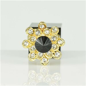 Adjustable Strass Ring Gold Full Strass New Collection 78543
