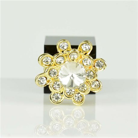 Adjustable Strass Ring Gold Full Strass New Collection 78544