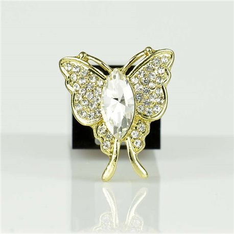 Adjustable Strass Ring Gold Full Strass New Collection 78548