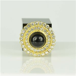 Bague Strass réglable Doré Full Strass New Collection 78555