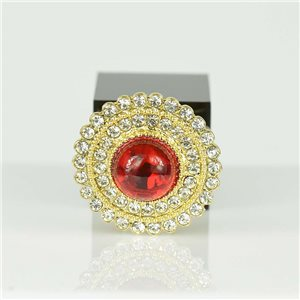 Bague Strass réglable Doré Full Strass New Collection 78556