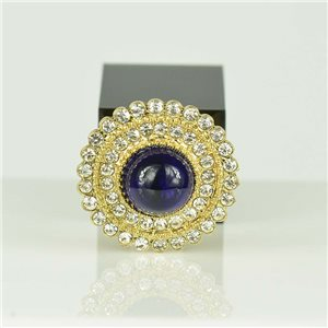 Bague Strass réglable Doré Full Strass New Collection 78558
