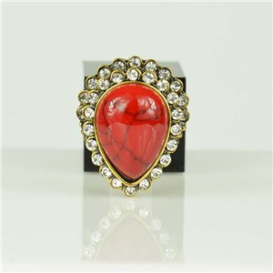 Bague Strass réglable Doré Full Strass New Collection 78564