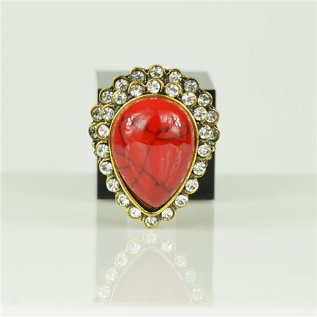 Adjustable Strass Ring Gold Full Strass New Collection 78564